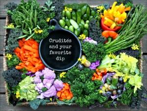Seasonal Crudites with your favorite dip