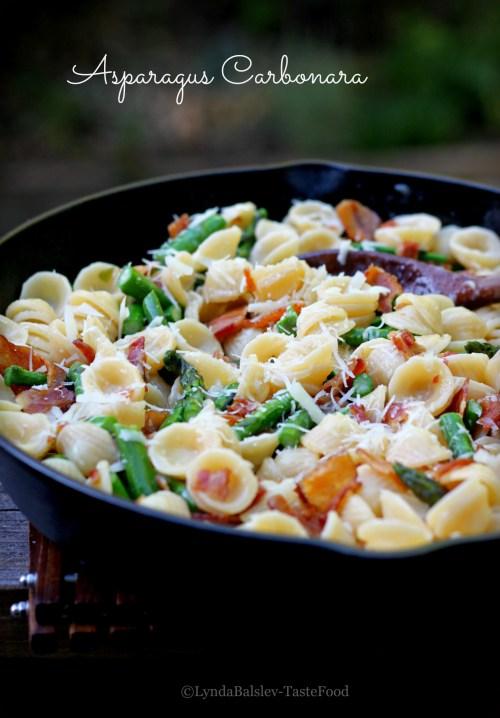Asparagus Carbonara TasteFood