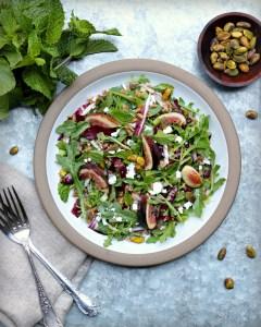 Fig Farro and Feta Salad