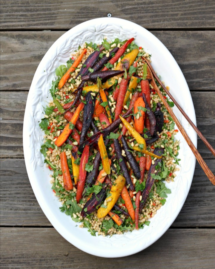 Carrot Couscous Salad Platter