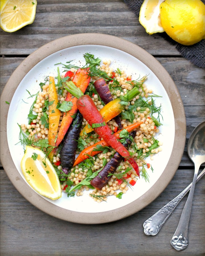 Carrot Couscous Salad with Pine Nuts