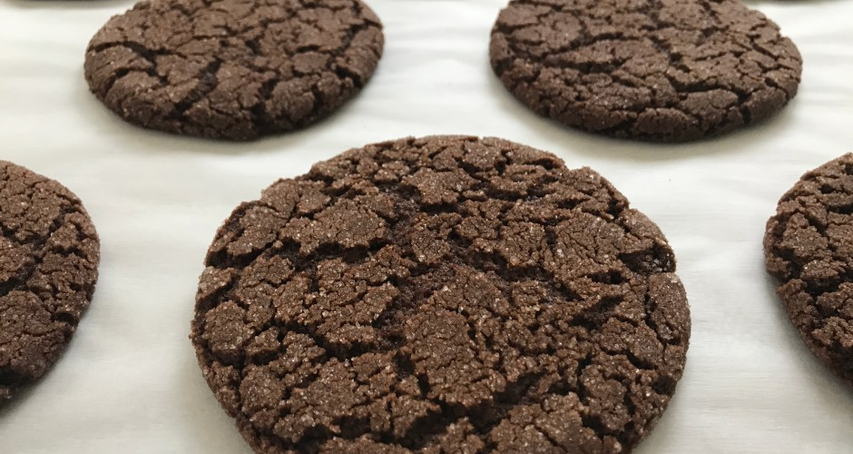Chocolate Espresso Crackle Cookies