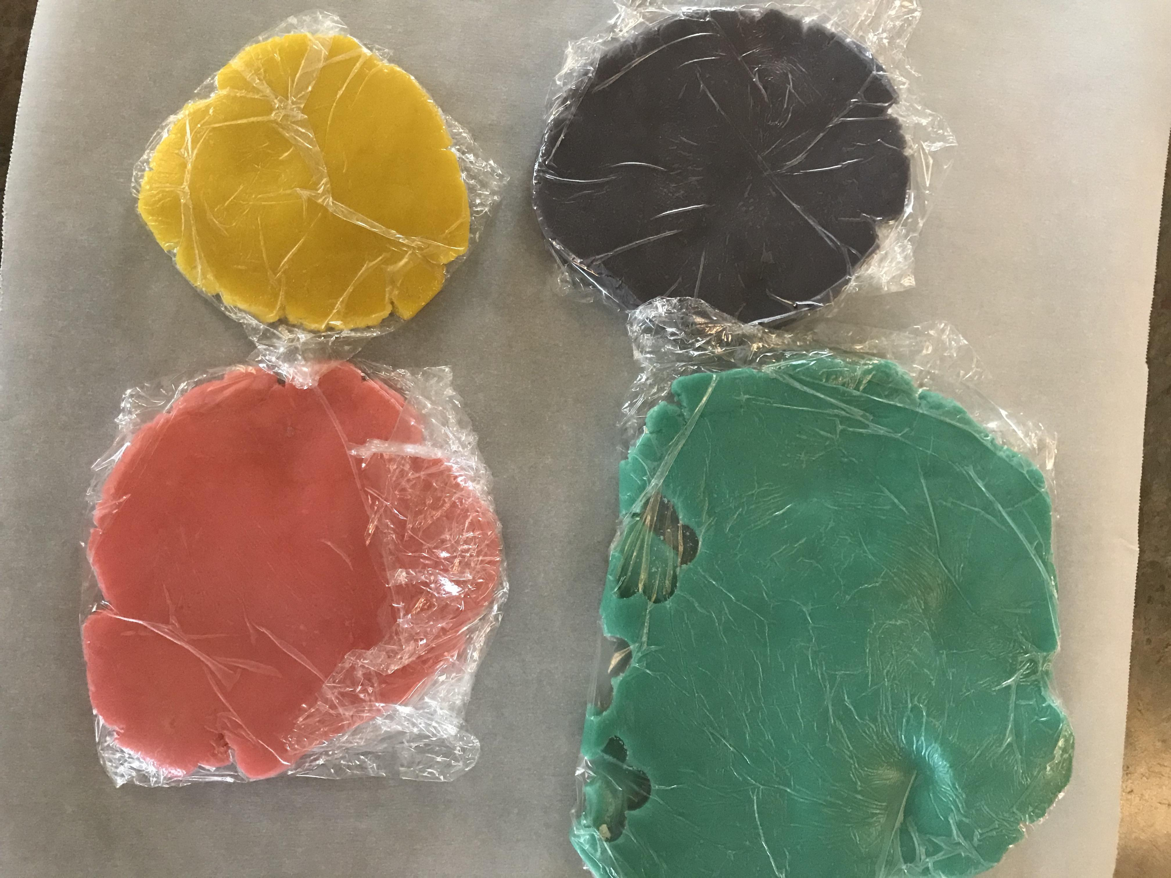 Mixing Color for Sparkling Flower Sugar Cookies
