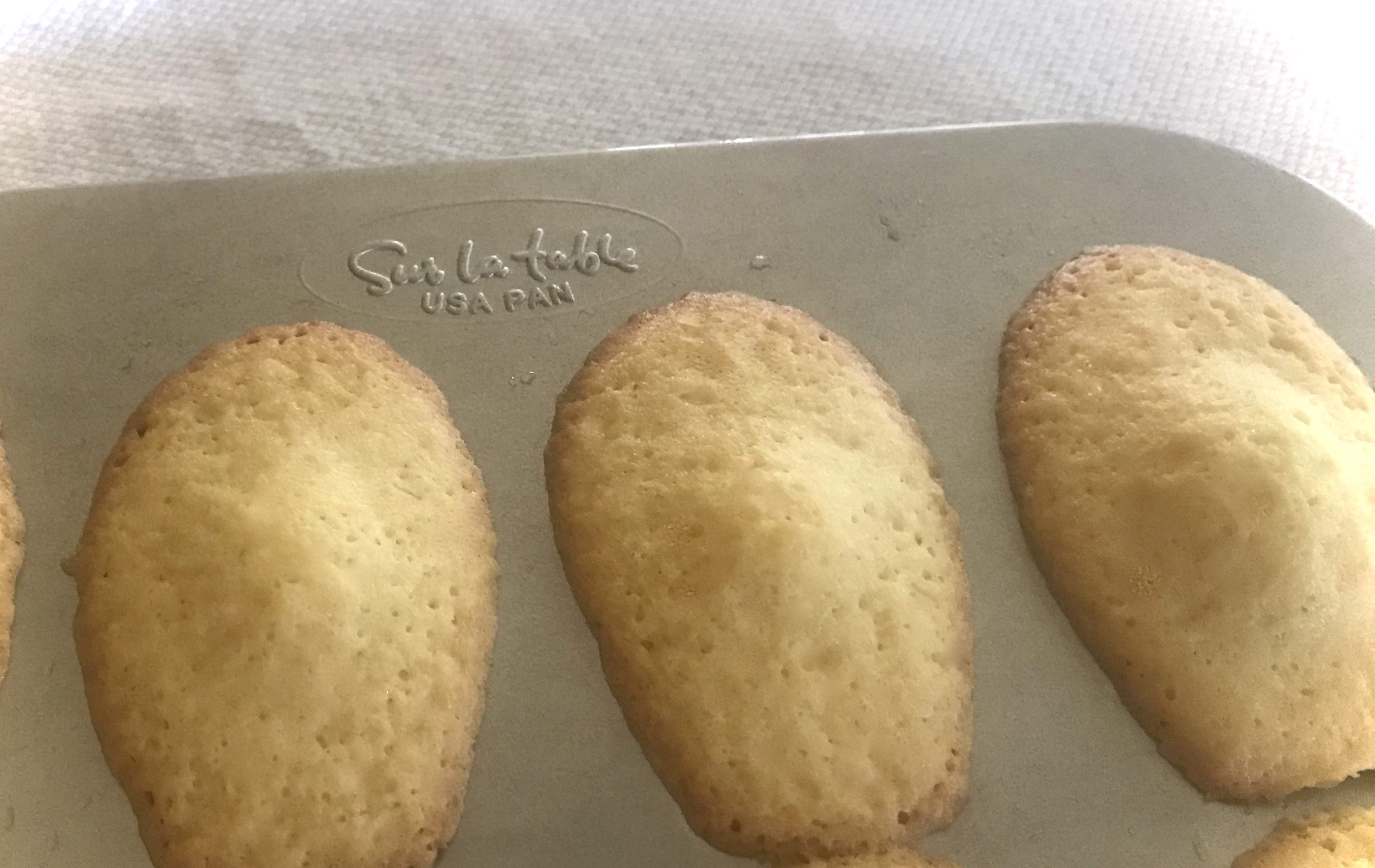 Baked Brown Butter Madeleines
