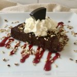 Flourless Chocolate Cake with Raspberry Sauce