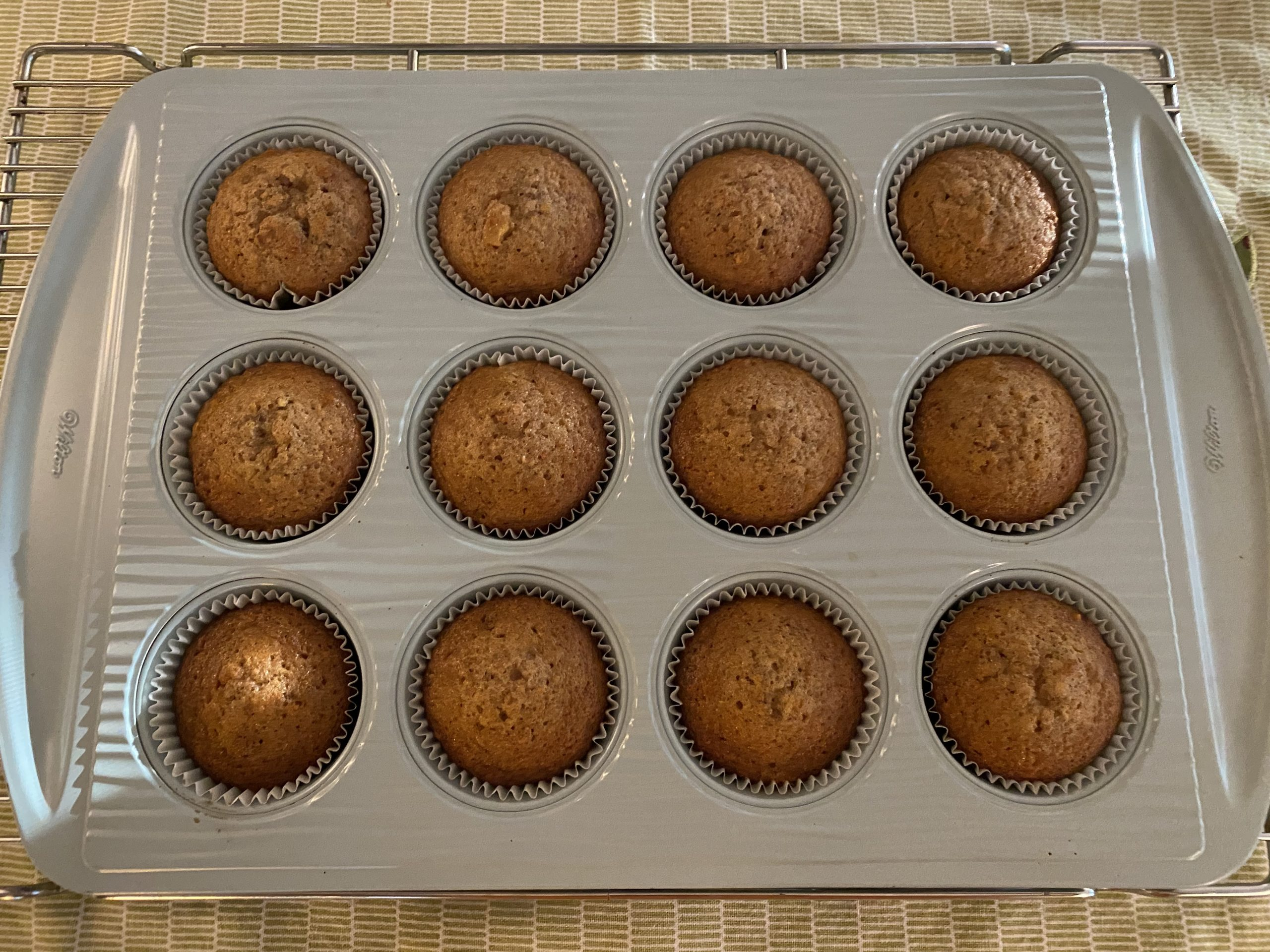 Bake Morning Glorious Muffins at 350° for 15 minutes