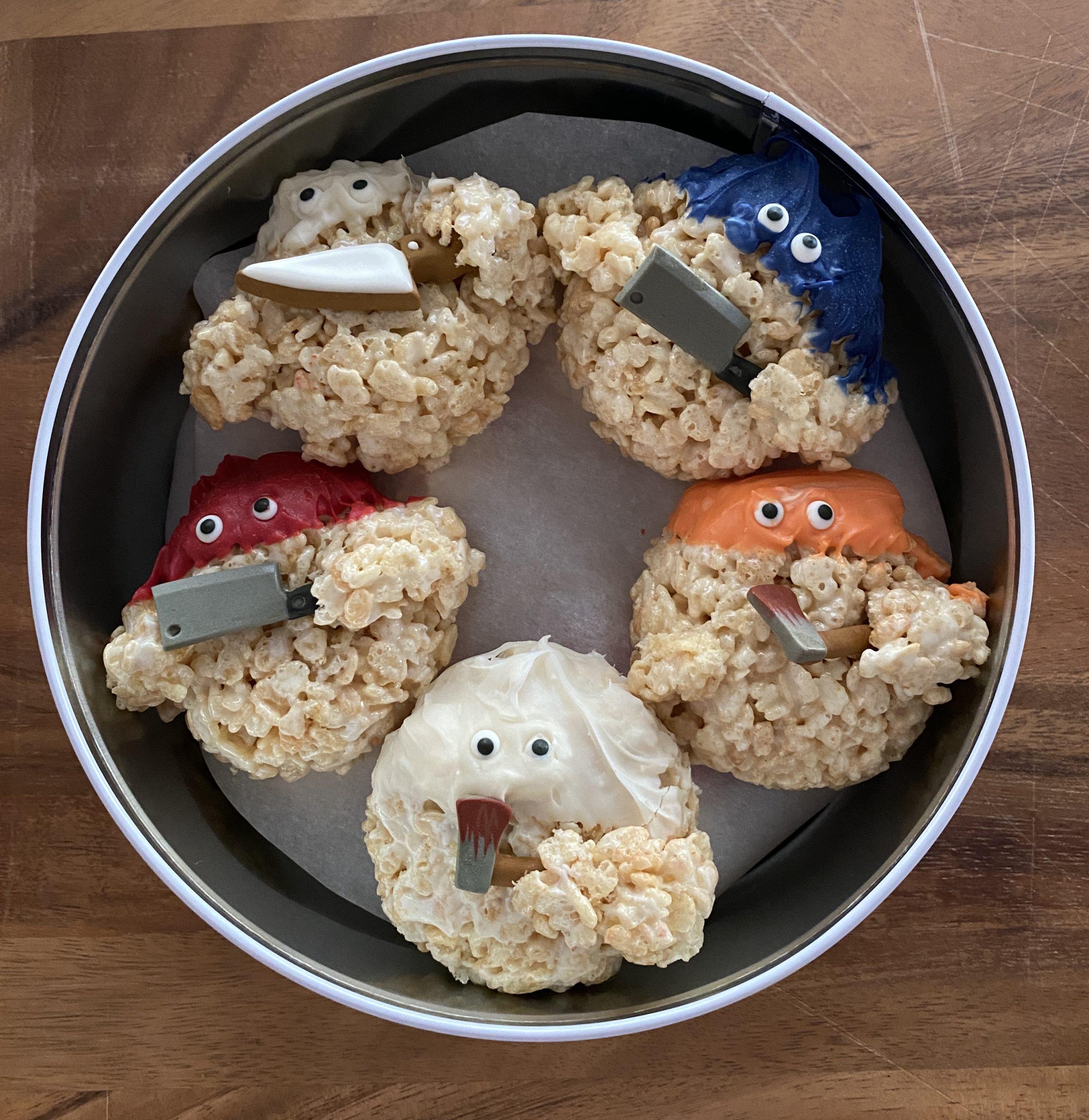 Creepy Rice Krispie Monsters