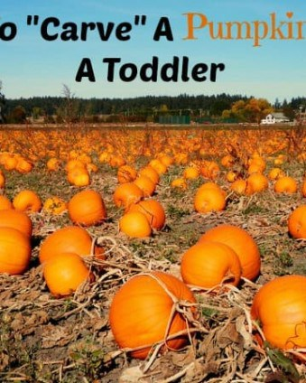 How To Carve A Pumpkin With A Toddler: No Tears Involved!