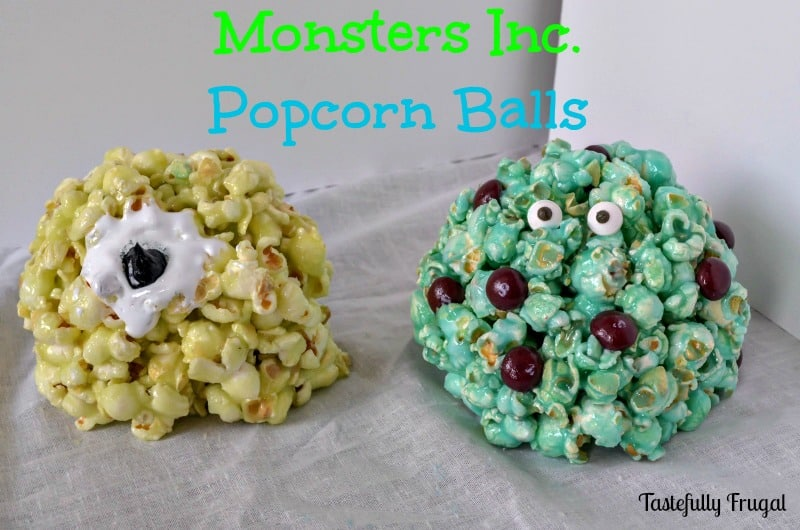 A Disney Treat: Monsters Inc. Popcorn Balls