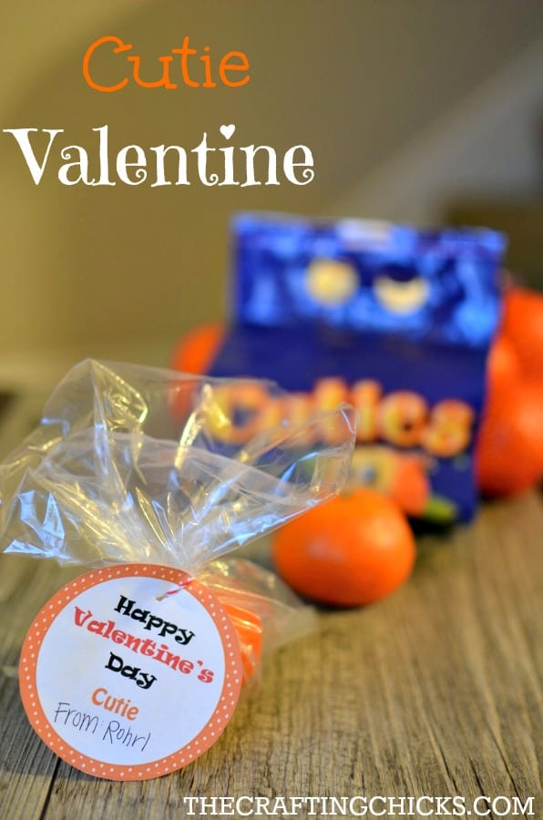Cutie Valentine with FREE Printable: A fun and healthy Valentine treat! | Tastefully Frugal
