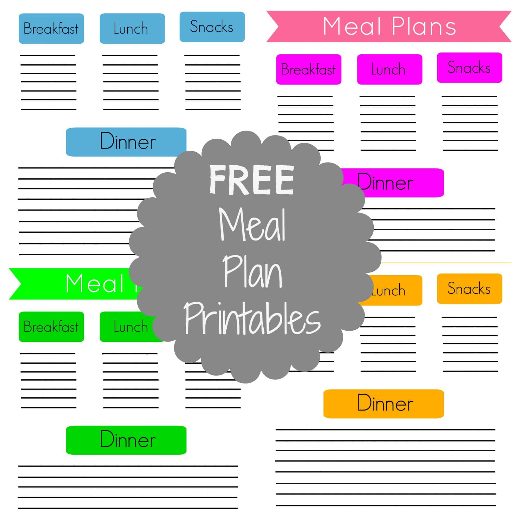 Free Meal Plan Printables And Two Weeks Of Meals