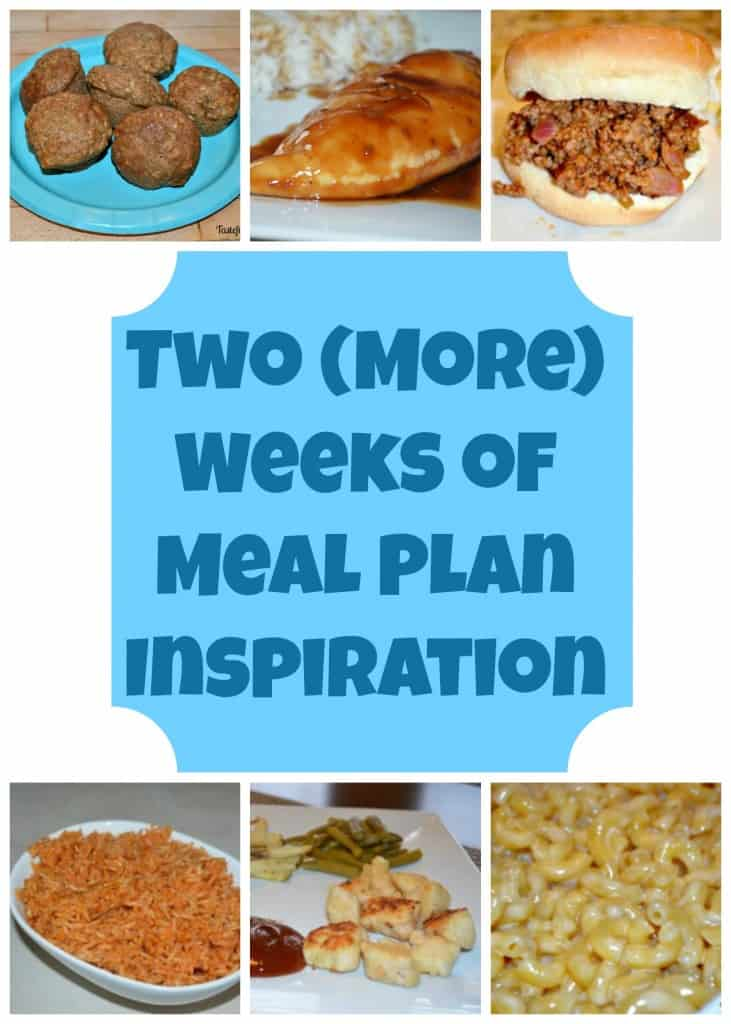 Two More Weeks of Meal Plan Inspiration
