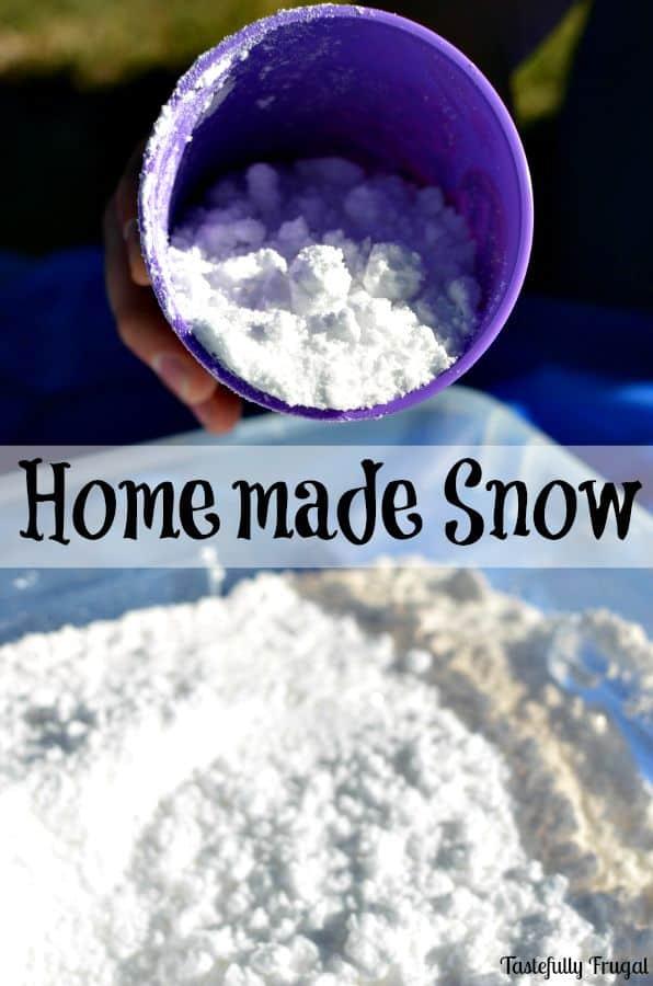 Homemade Snow www.tastefullyfrugal.org