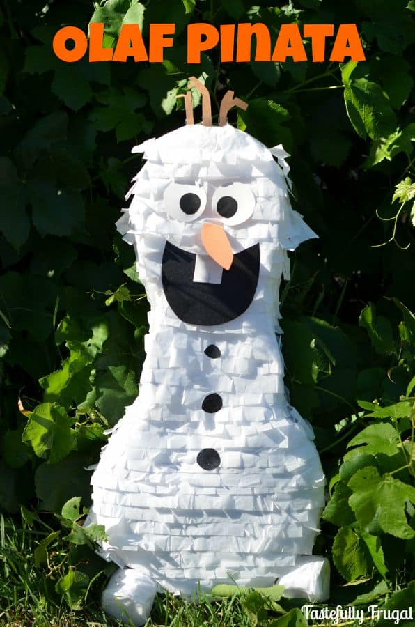 Olaf Pinata and Other Frozen Party Ideas www.tastefullyfrugal.org #ad #BDayOnBudget #CollectiveBias @Walmart