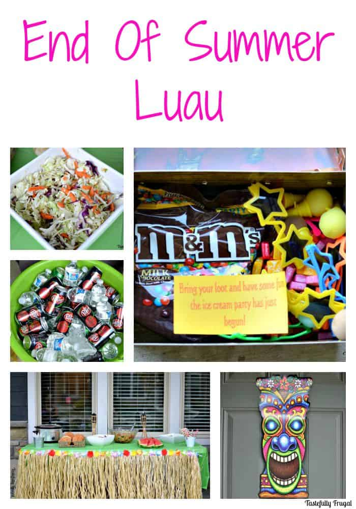 End of Summer Luau and Treasure Hunt AD #SummerFunshine #CollectiveBias