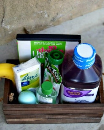 Get Over The Flu Fast Gift Box www.tastefullyfrugal.org
