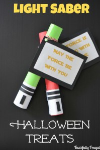 Light Saber Halloween Treats | Day 2 of Tastefully Frugal's 13 Frightfully Fun Days of Halloween