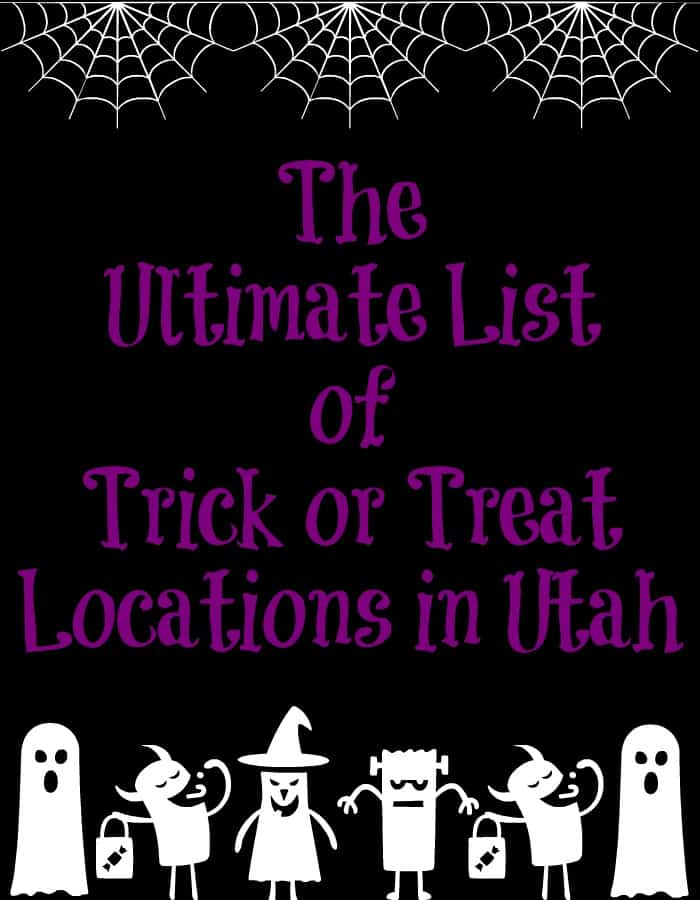 The Ultimate List of Trick or Treat Locations in Utah | Day 13 of Tastefully Frugal's 13 Frightfully Fun Days of Hallowen