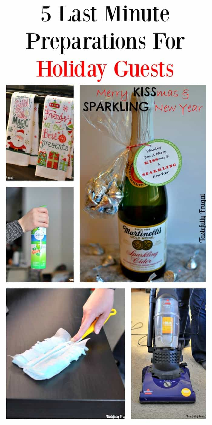 5 Last Minute Preparations For Holiday Guests | Tastefully Frugal #ad #FullHomeHappyHome
