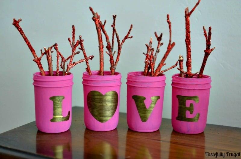 Shabby Chic Love Mason Jars | Tastefully Frugal