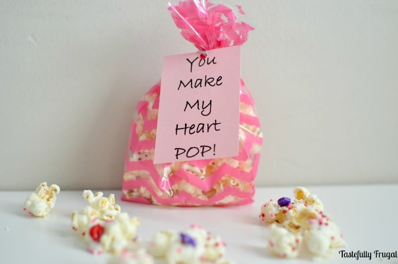 You Make My Heart POP Valentine: A fun and easy Valentine treat perfect for large groups   Tastefully Frugal