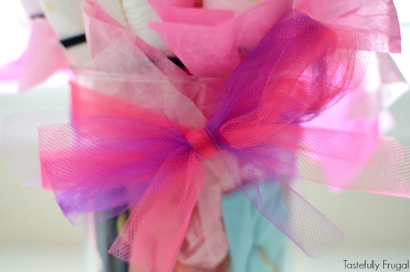 Diaper Bouquet: A Fun Baby Shower Gift You Can Make In 30 Minutes | Tastefully Frugal