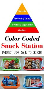 Color Coded Snack Station: Perfect for Back to School! AD #PackSnacksTheyLove