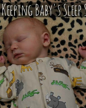 6 Tips For Keeping Baby's Sleep Space Safe AD | Tastefully Frugal