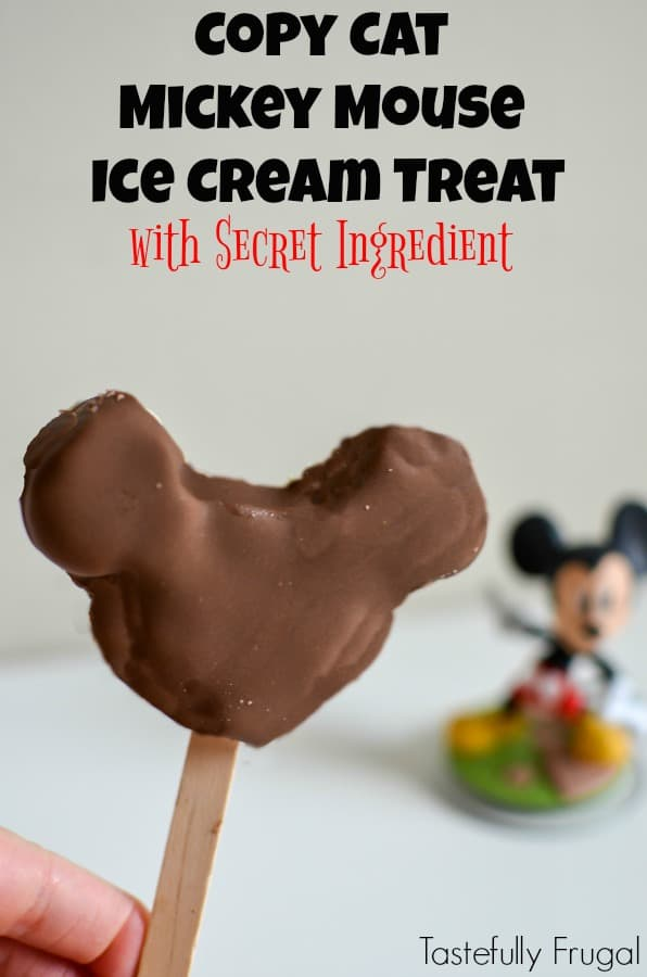 Copy Cat Mickey Mouse Ice Cream Treat: Make The Classis Disneyland Treat At Home With A Secret Ingredient!