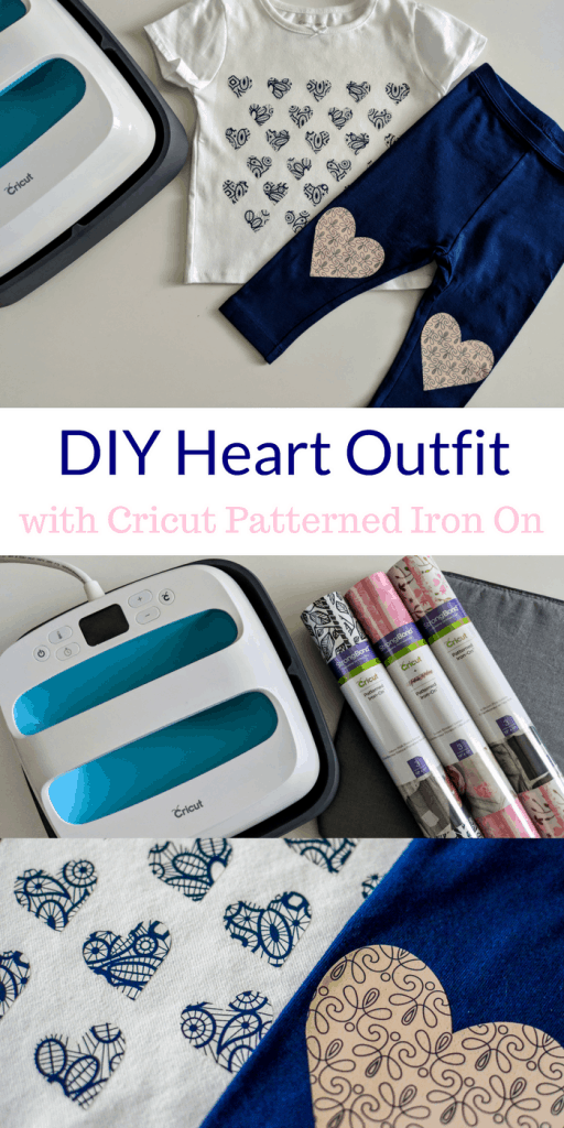 Make this cute shirt and leggings in less than 5 minutes with the new Cricut Patterned Iron On #ad #CricutStrongBon #Cricut #CricutMade