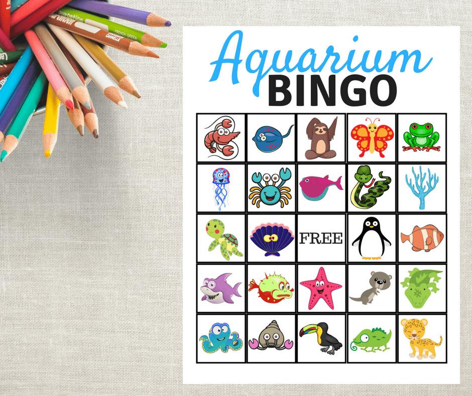 FREE Aquarium Bingo Game