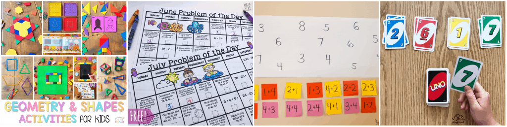 Don't let your kids get the summer slide this year - check out these summer math activities perfect for elementary school ages!
