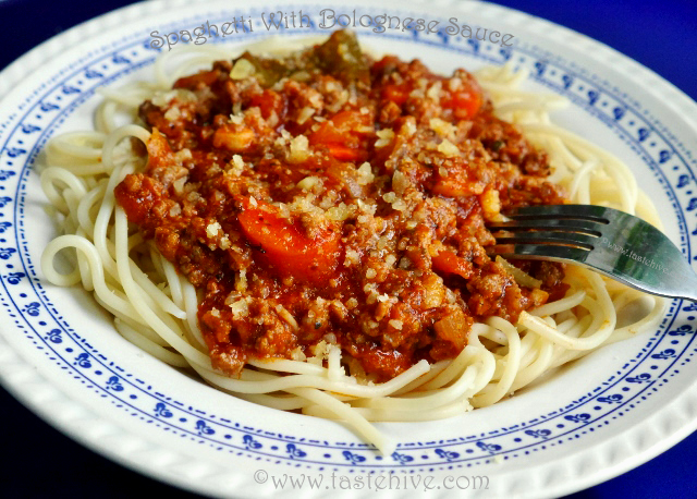 Spaghetti With Bolognese Sauce Recipe Italian Pasta With Meat Sauce