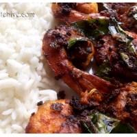 Kerala Style Prawn Fry (Konju/Chemmeen Varuthathu)
