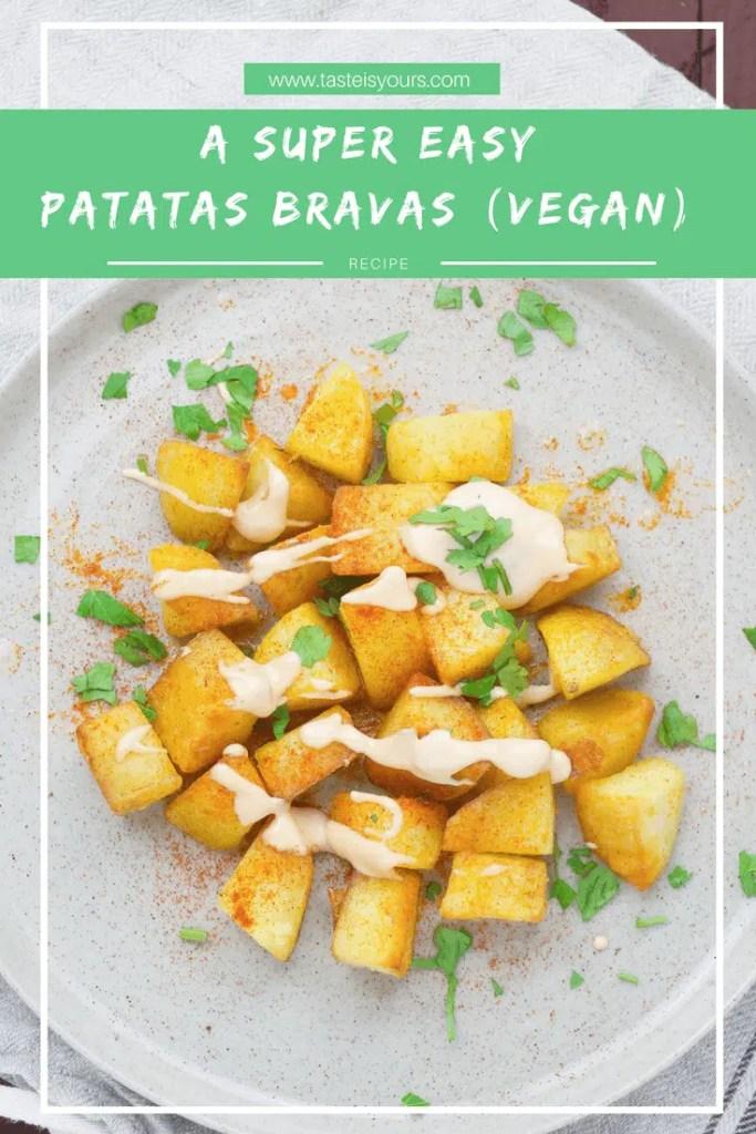 A super easy patatas bravas (VeGaN)