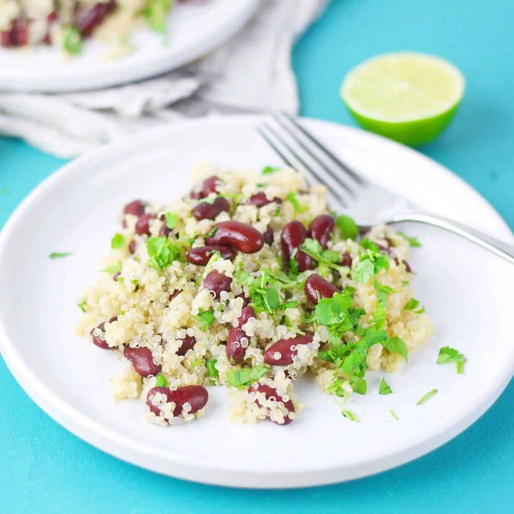 4 Ingredient vegan quinoa salad full of protein.