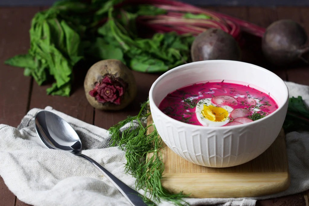 Easy Traditional Polish cold beetroot soup (chlodnik)