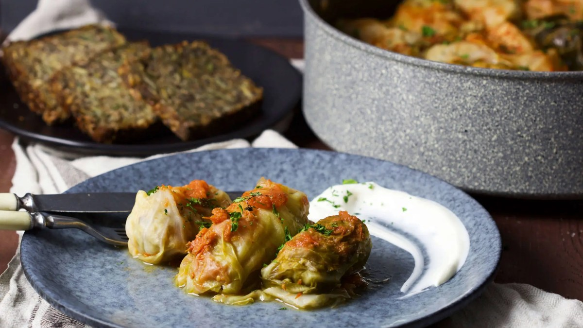 Stuffed cabbage rolls (golabki, holubki, töltött káposzta) perfect as a he​alth​y and satisfying summer meal for your family