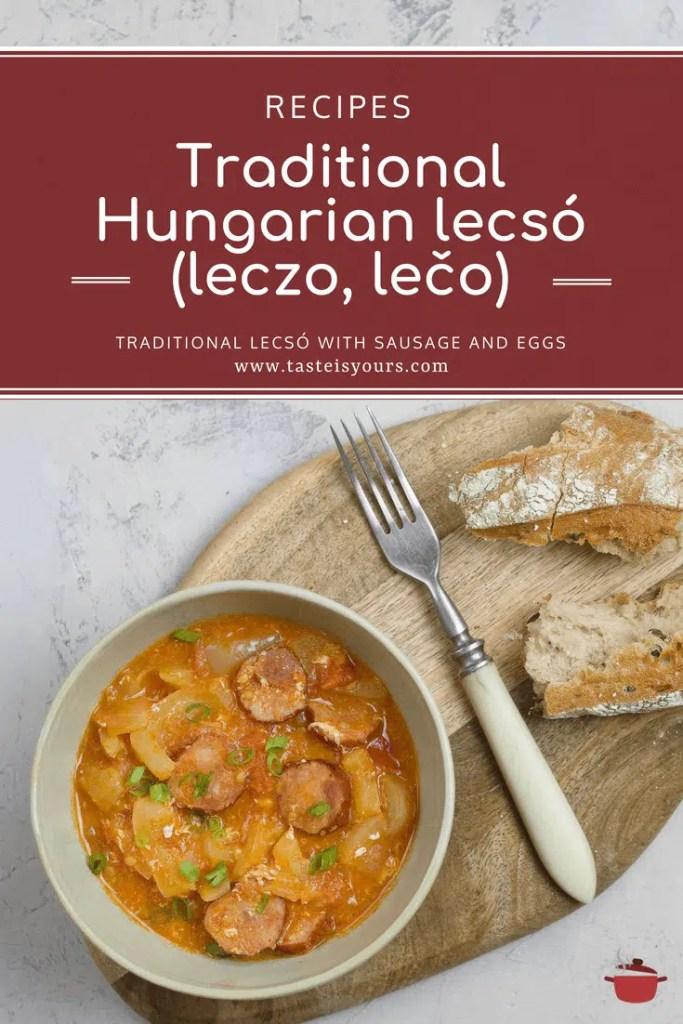 "Traditional Hungarian ""lecsó"" (leczo, lečo)"