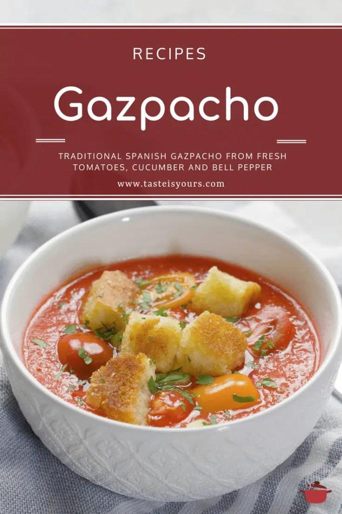 Gazpacho, or cold tomato soup