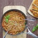 Chicken Milanese with spaghetti and tomato sauce 1