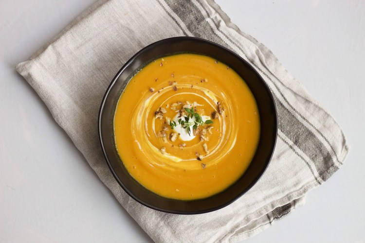 the perfect spicy pumpkin soup for autumn lunch