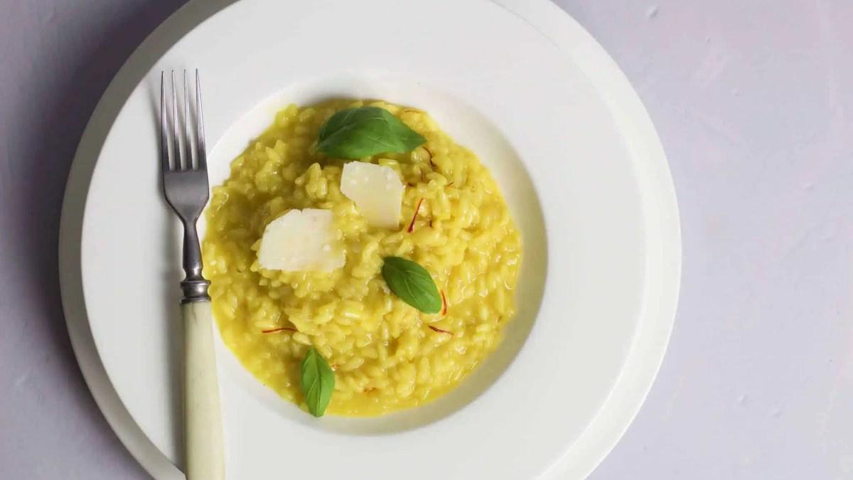 Saffron risotto – a perfect libido boosting dish.