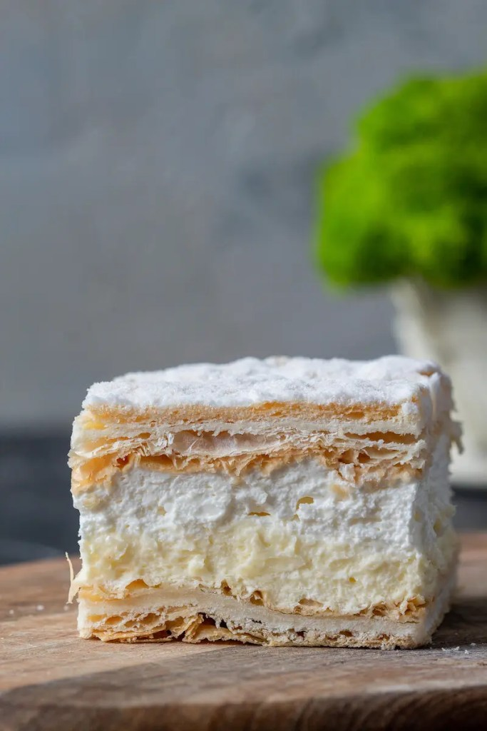 Papal cream cake or kremowka. - One of the best Polish desserts. 3