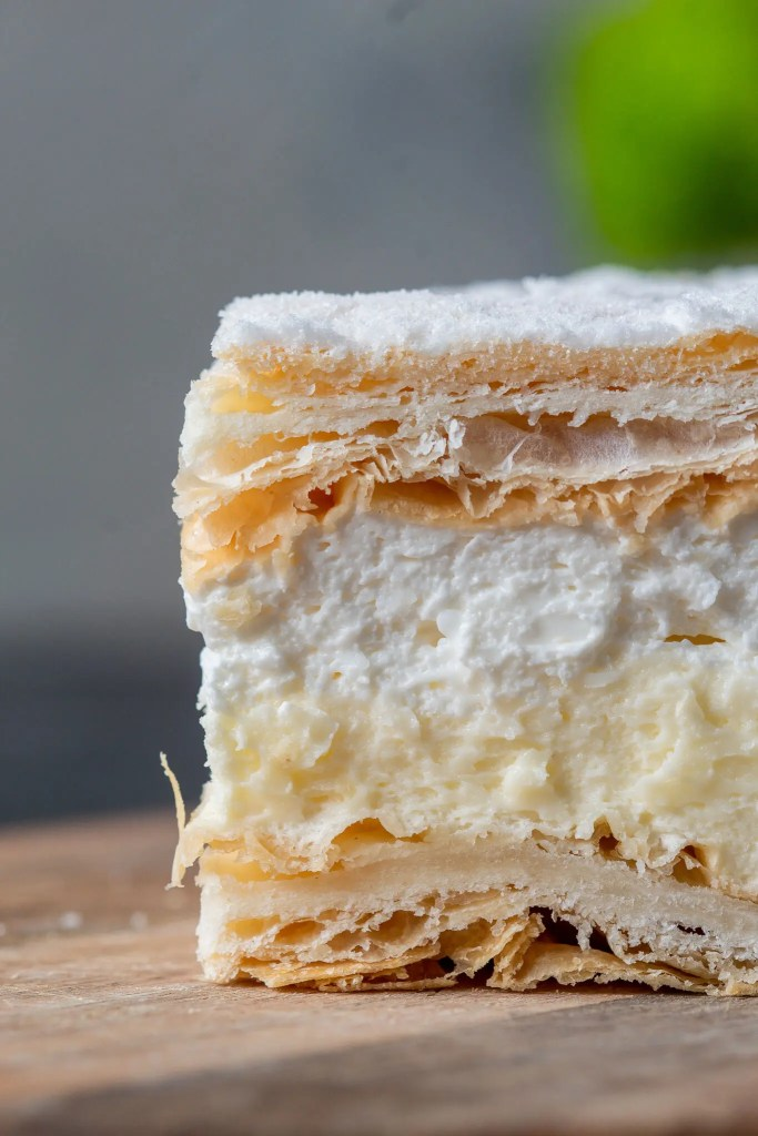 Papal cream cake or kremowka. - One of the best Polish desserts. 4