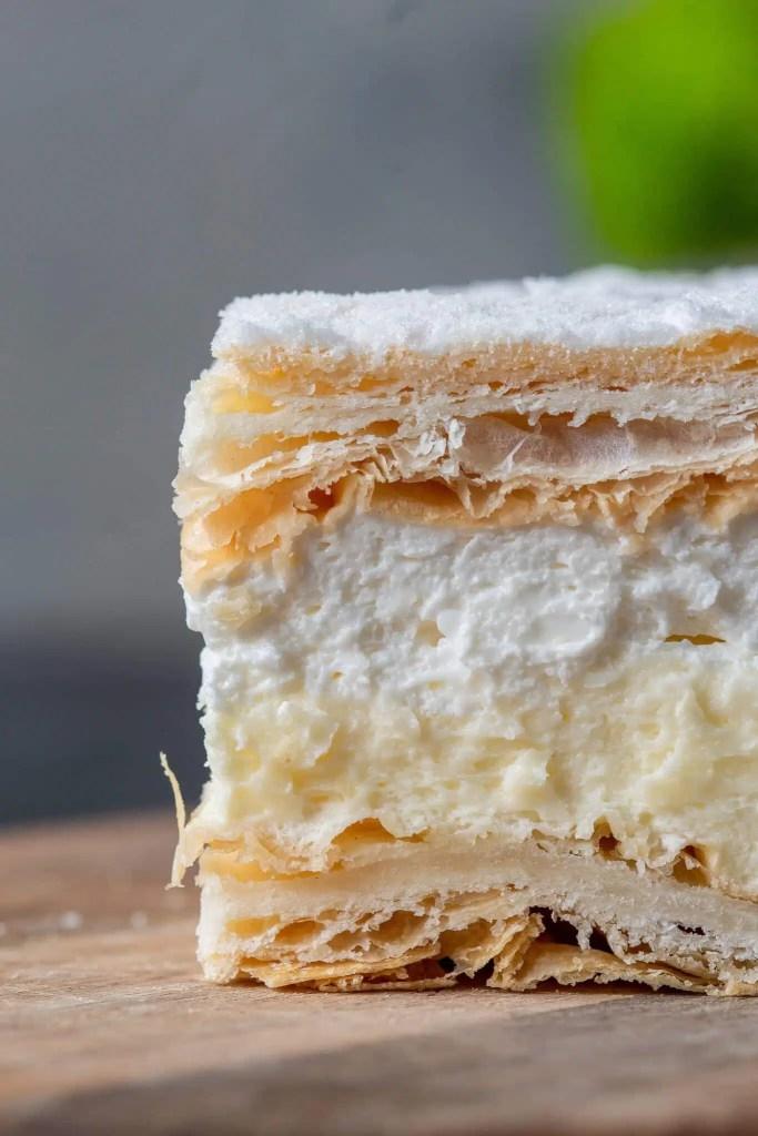 Papal cream cake or kremowka. - One of the best Polish desserts. 4