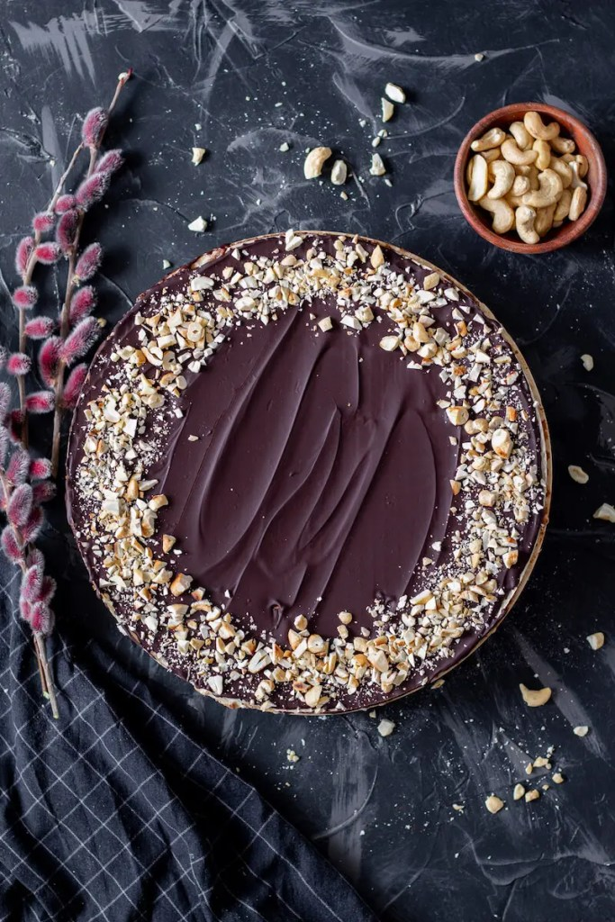 Pischinger cake with chocolate filling - an authentic Polish dessert.