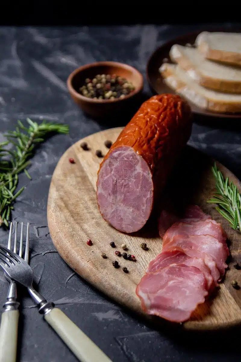 Cracow sausage (kielbasa Krakowska) - an authentic Polish recipe.