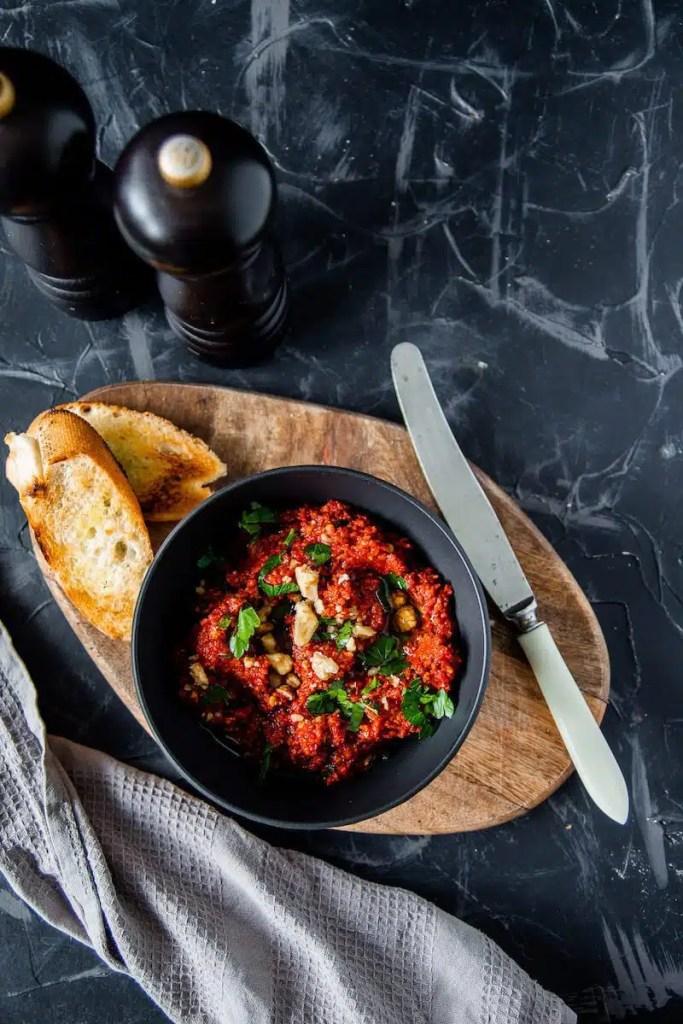 Easy Muhamarra Syrian pepper paste recipe