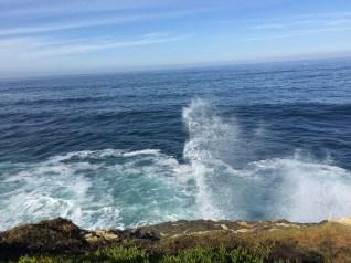 Waves crashing...